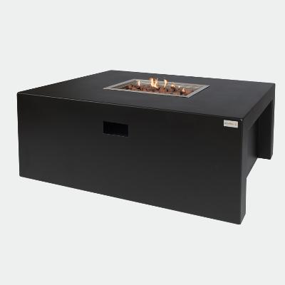 Feuertisch Aluminium Schwarz