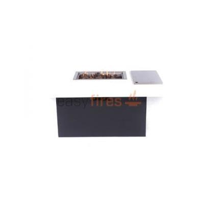 Feuertisch aus Aluminium